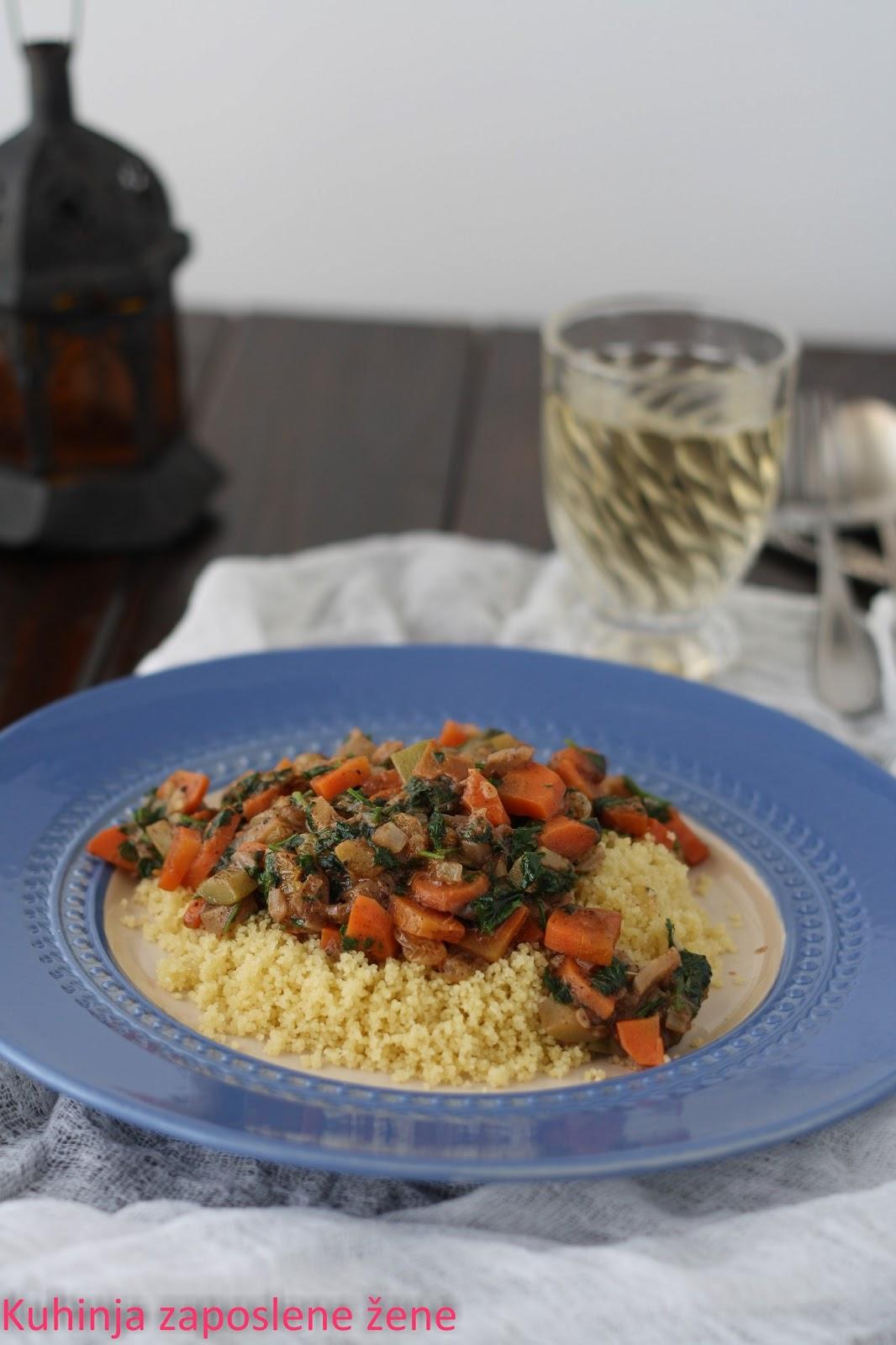 Kus-kus sa povrćem na orijentalni način / Couscous with vegetable in an oriental way