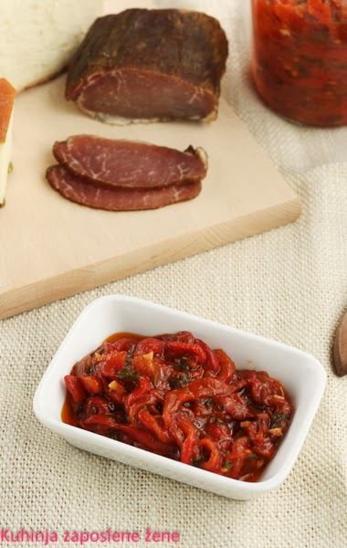 Pindžur / Domestic preserved peppers with tomatoes