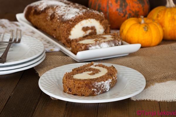 Rolat od bundeve / Pumpkin roll