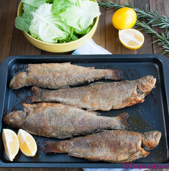Pečena pastrmka / Roasted trout
