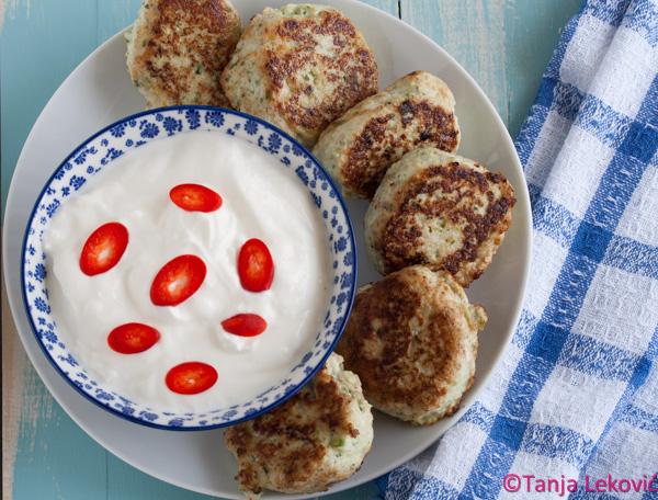 Ćufte od piletine i tikvica / Chicken meatballs with zucchini