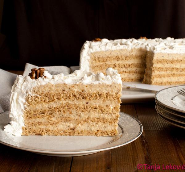 Žito torta / Nuts and nutmeg cake