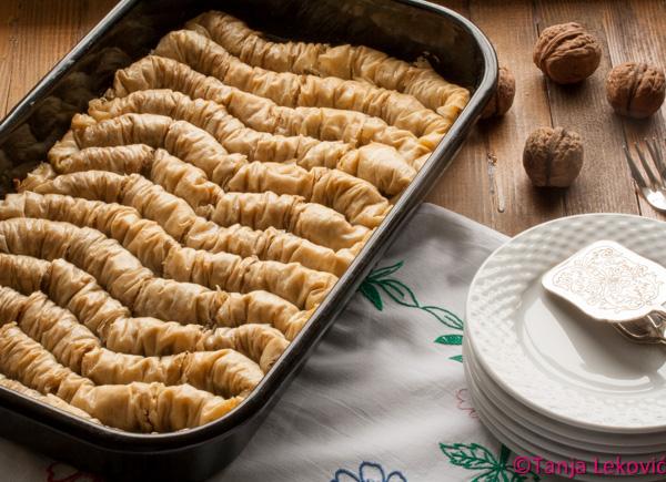 Rolovana baklava (rimejk) / Rolled baklava