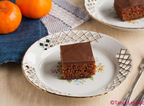Posno medeno srce / Vegan chocolate and jam cake