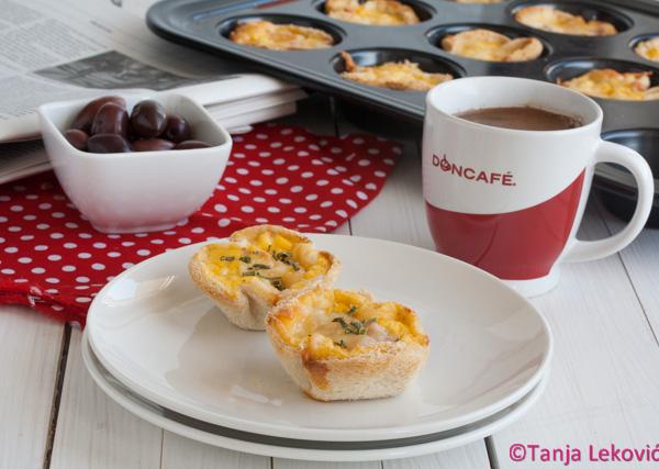 Kiš mafini od tost hleba / Quiche muffins of toast bread