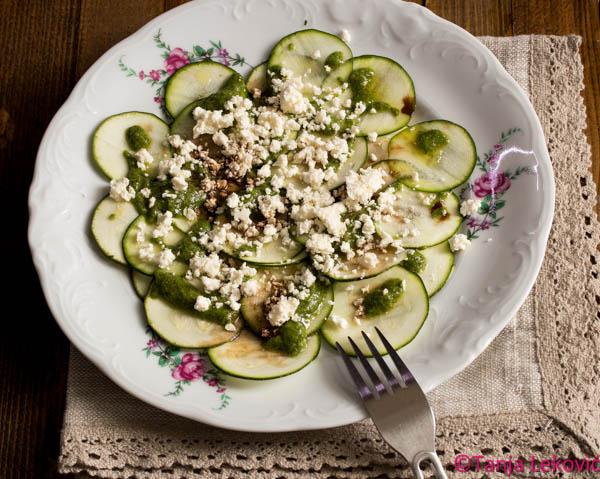 Karpačo od tikvica / Zucchini carpaccio