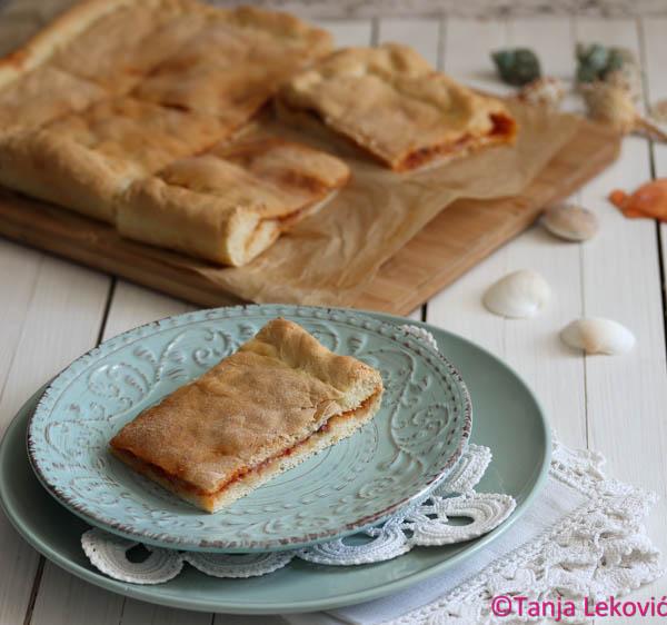 Viška pita / Anchovies and tomato pie