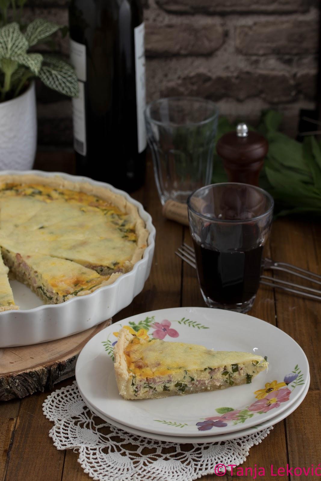 Kiš sa sremušem / Quiche with wild garlic