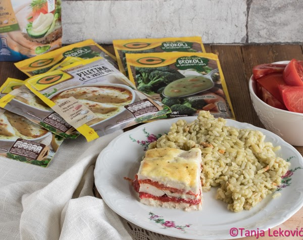 Bajader piletina i zeleni rižoto