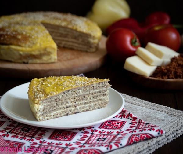 Heljdopita / Domestic buckwheat flour pie