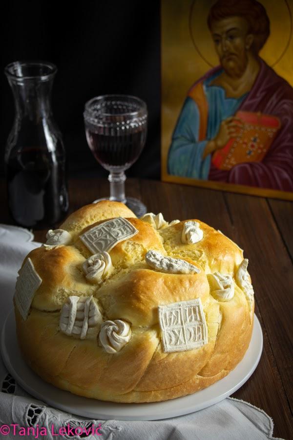 Slavski kolač (hleb) / Bread for Serbian family's patron saint