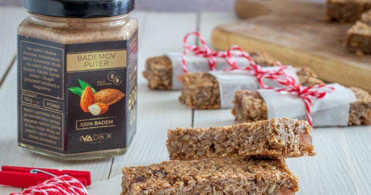 Zdrave granola pločice sa bademovim puterom